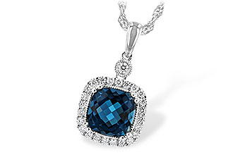 A198-64728: NECK 1.63 LONDON BLUE TOPAZ 1.80 TGW