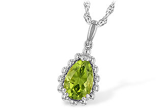 A198-67528: NECKLACE 1.30 CT PERIDOT