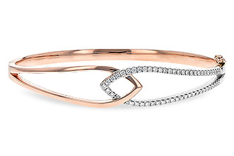 A198-71164: BANGLE BRACELET .50 TW (ROSE & WG)