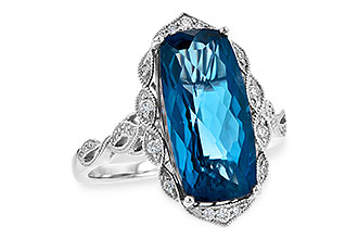 A199-55637: LDS RG 6.75 LONDON BLUE TOPAZ 6.90 TGW