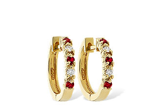 B010-48382: EARRINGS .17 RUBY .26 TGW