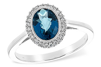 B198-64746: LDS RG 1.27 LONDON BLUE TOPAZ 1.42 TGW