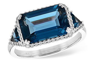 B199-56582: LDS RG 4.60 TW LONDON BLUE TOPAZ 4.82 TGW
