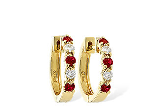 C010-48382: EARRINGS .33 RUBY .52 TGW