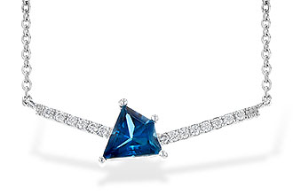 E199-61100: NECK .87 LONDON BLUE TOPAZ .95 TGW