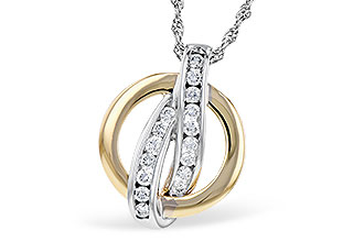 F282-30209: NECKLACE .25 TW