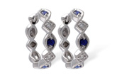 G010-45636: EARRINGS .20 SAPP .25 TGW