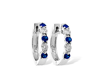 G010-48382: EARRINGS .33 SAPP .52 TGW