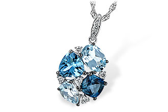 K198-64727: NECK 2.60 BLUE TOPAZ 2.70 TGW