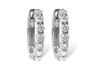 L010-48372: EARRINGS 1.00 CT TW