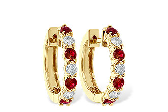 M010-48381: EARRINGS .64 RUBY 1.05 TGW