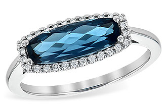 M199-59345: LDS RG 1.79 LONDON BLUE TOPAZ 1.90 TGW