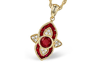 M282-30254: NECK .63 TW RUBY .70 TGW